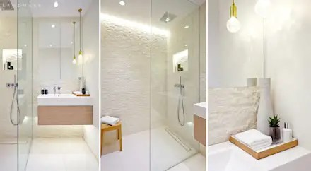 Bathroom ideas  designs  inspiration   pictures   homify MAIN BATHROOM  industrial Bathroom by Landmass London