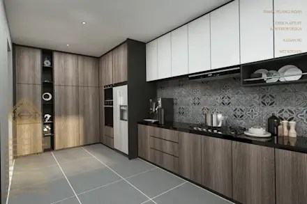 Kitchen design ideas  inspiration   pictures   homify Kitchen  modern Kitchen by Enrich Artlife   Interior Design Sdn Bhd