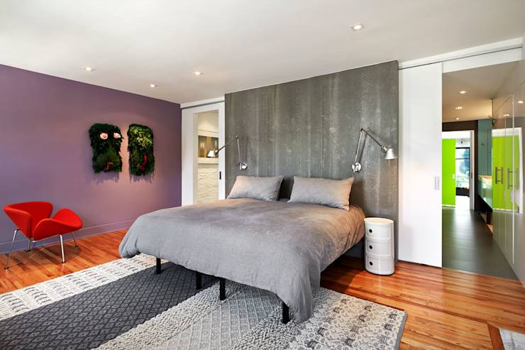 Salt + Pepper House: modern Bedroom by KUBE Architecture