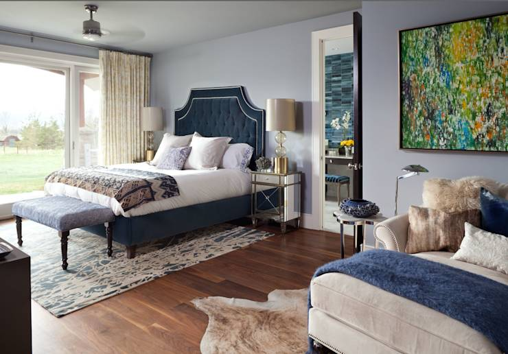 Elegant Modern and Timeless: classic Bedroom by Andrea Schumacher Interiors