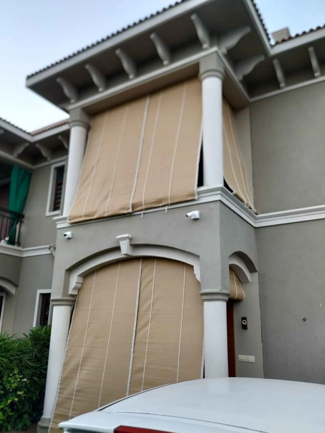 balcony bamboo curtains blinds outdoor