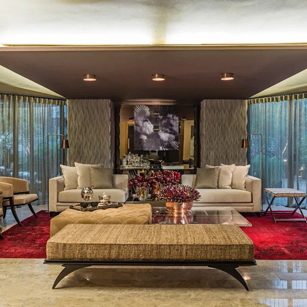 Ruang Keluarga by Denise Barretto Arquitetura