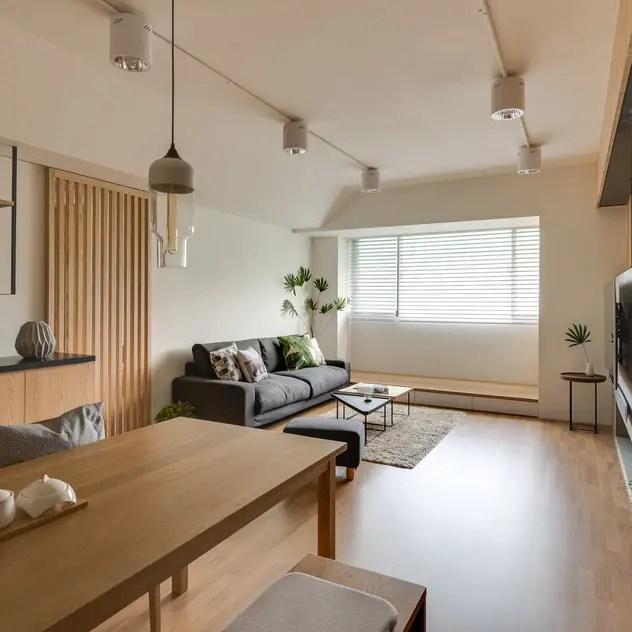 minimalistic Living room by 御見設計企業有限公司