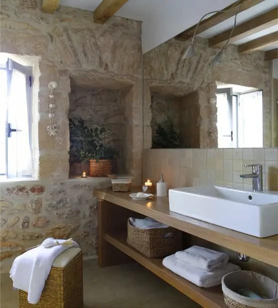 10 superbes salles de bains rustiques