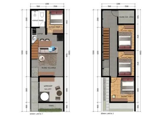 10 Contoh Denah Rumah Minimalis Modern Sederhana Tapi Nyaman