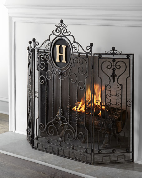 Personalized Fireplace Screen