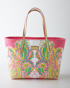Lilly Pulitzer Hotty Pink Resort Tote Bag