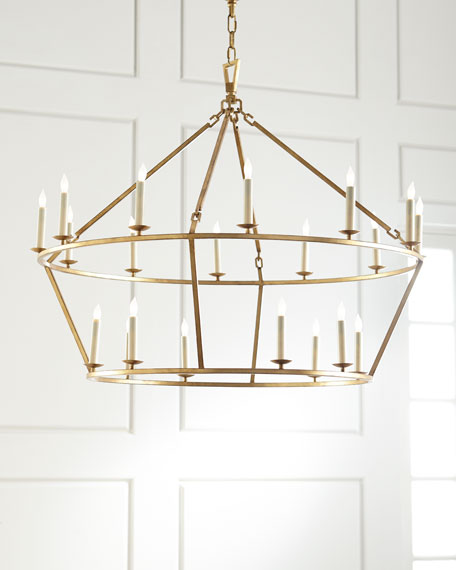 Darlana Two Tiered Ring Chandelier: Large Lantern Chandelier