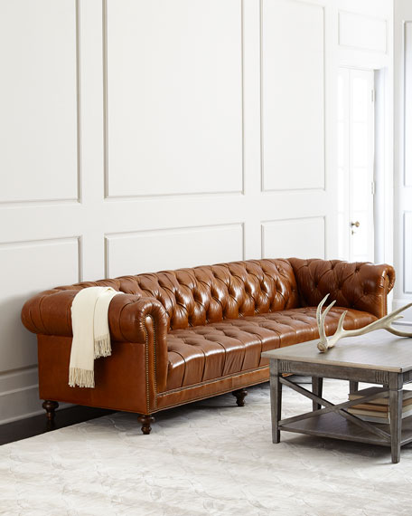 Massoud Davidson Tufted Seat Chesterfield Sofa Davidson 119  Tufted Seat Chesterfield Sofa