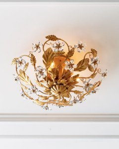 Crystal Ceiling Light Fixture   horchow com Crystal Ceiling Light Fixture