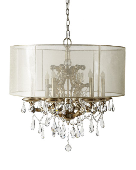 6 Light Veiled Shade Chandelier
