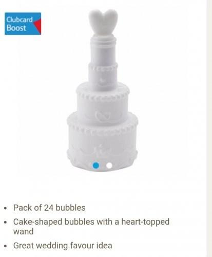 Tesco Wedding Bubbles