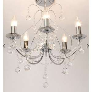 Saria 5 Light Flush Chandelier 48 Del Bhs With Codes Was 120