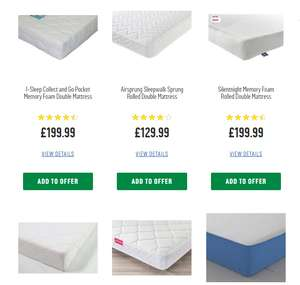 Argos 15 Off Mattresses When Bought With Bedframe Additional 20 150