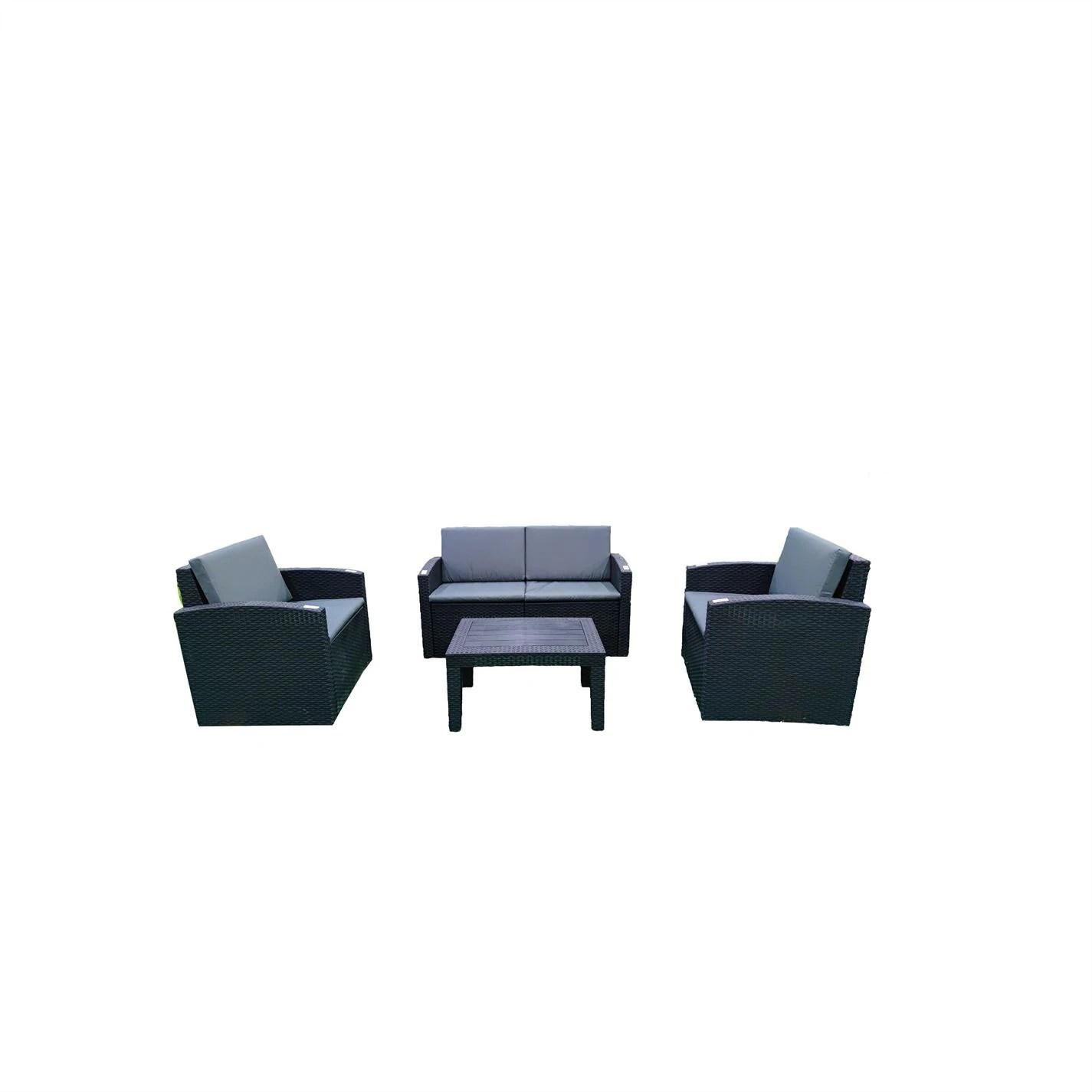 culcita home 4 piece lounge garden patio furniture set