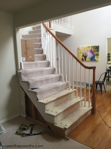 Rebuilding A Staircase Framing Out A Wall House Of Hepworths | Stairs Side Wall Design | Modern | Stone | Pop | Wallpaper | Stair Pattern