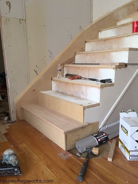 An Amazing Staircase Makeover From Carpet To Wood House Of | Changing Carpeted Stairs To Wood | Stair Railing | Wood Flooring | Stair Case | Laminate Flooring | Staircase Makeover