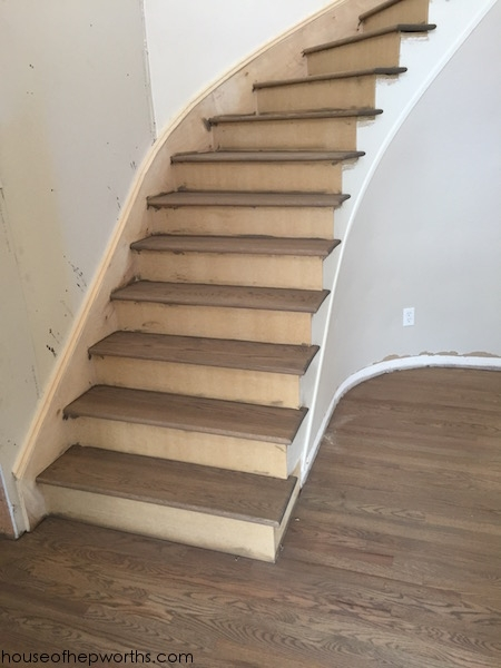 An Amazing Staircase Makeover From Carpet To Wood House Of   Carpet Treads For Hardwood Stairs   Walmart Com   Anti Slip   Staircase Makeover   Walmart   Stair Runners