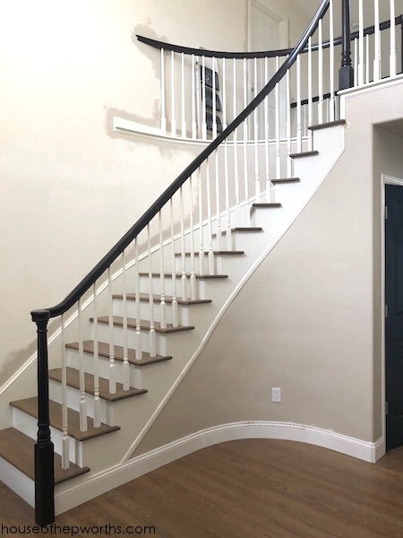 An Amazing Staircase Makeover From Carpet To Wood House Of | Carpet On Tread Only | Wood Stairs | Risers | Stair Tread | Hardwood | Staircase