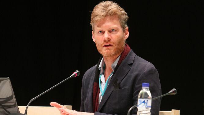 Christian Felber, durante su intervención en el congreso.