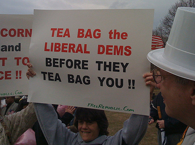 Teabaggers on parade