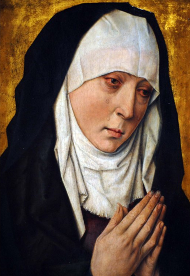 Image result for woman weeping alone in painting