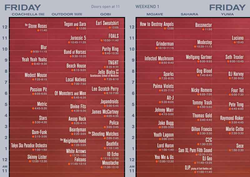 Coachella 2013 Set Times Released Huffpost