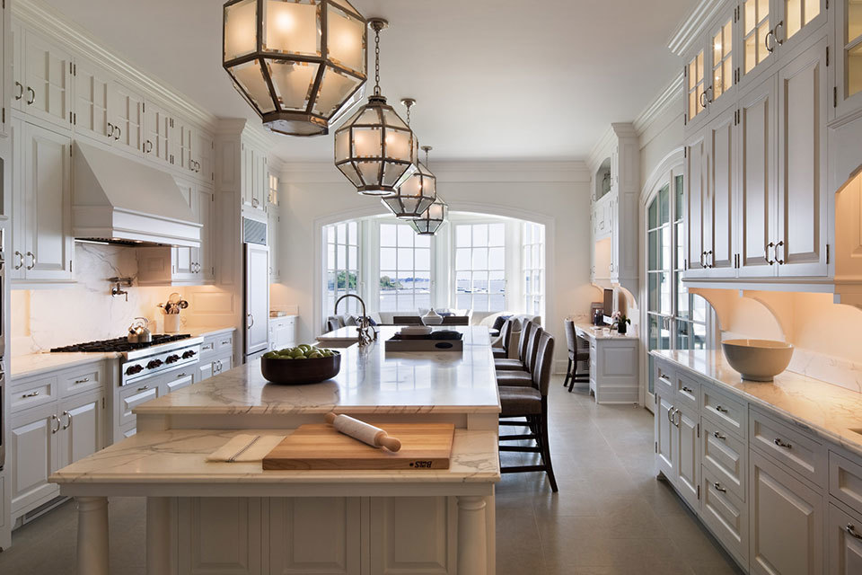 White Kitchen 9 Foot Ceilings