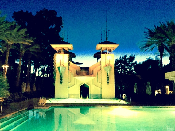 A pool at dawn, The Arizona Biltmore. (Photo by Scott Bridges)