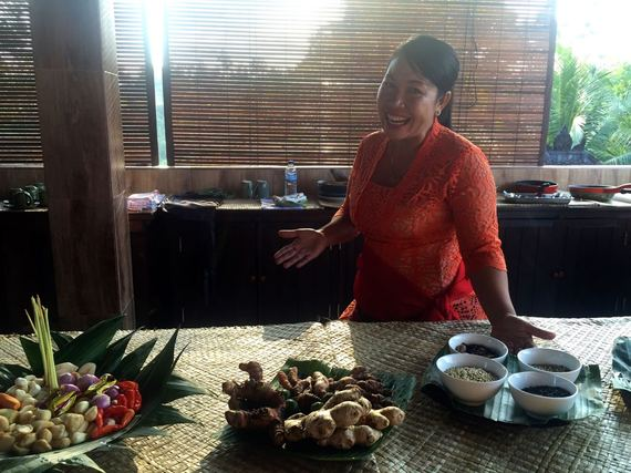 Local owner of the Paon Bali Cooking School
