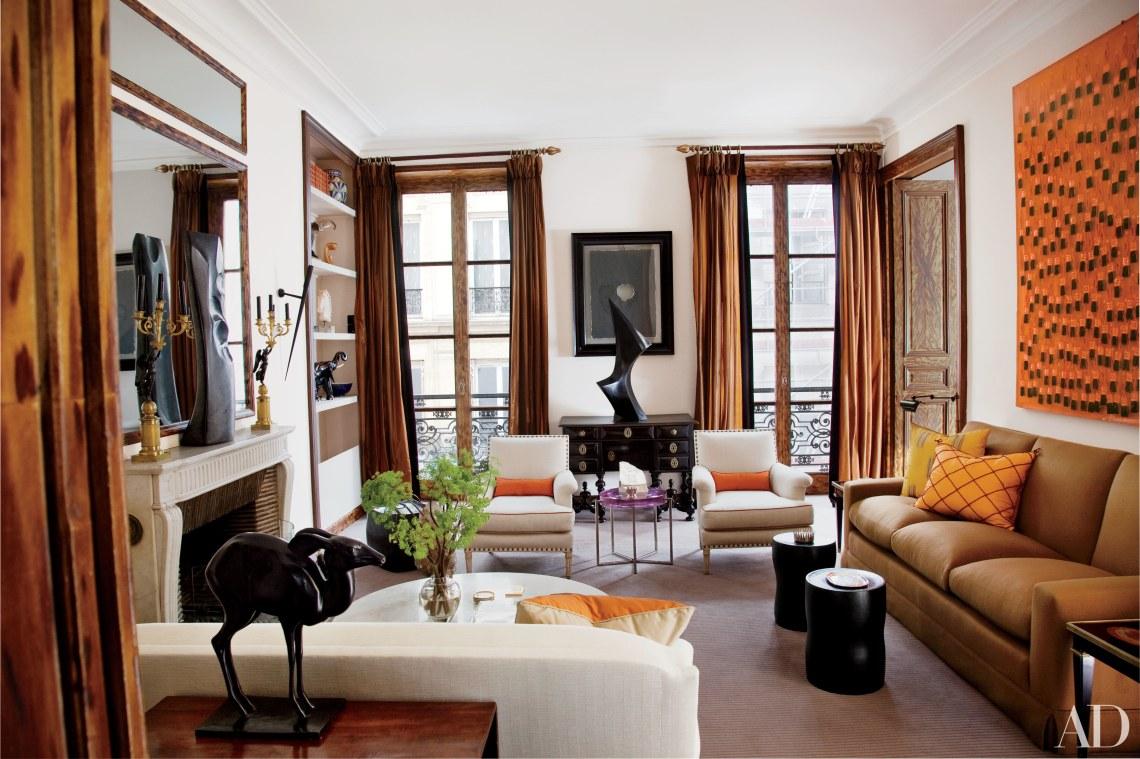 warm living room colors