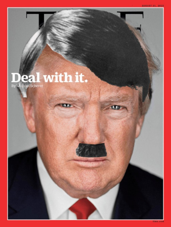 Image result for image trump is hitler