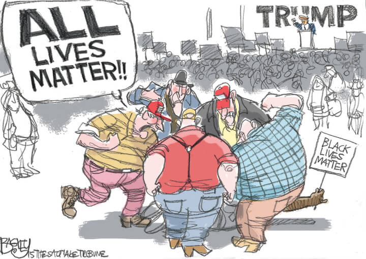 Image result for political cartoons WHITE SUPREMACISTS SUPPORT TRUMP