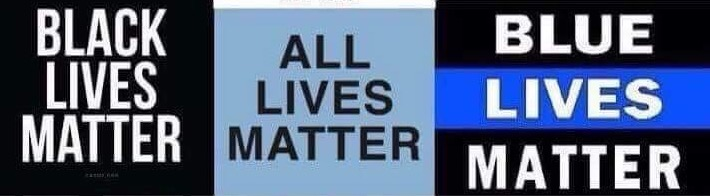 Image result for black lives matter all lives matter