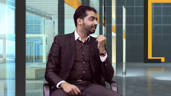 Abu Ali, a Clinical Data Manager, was the first guest to appear on Youth Corner (Photo credit: LB24tv)