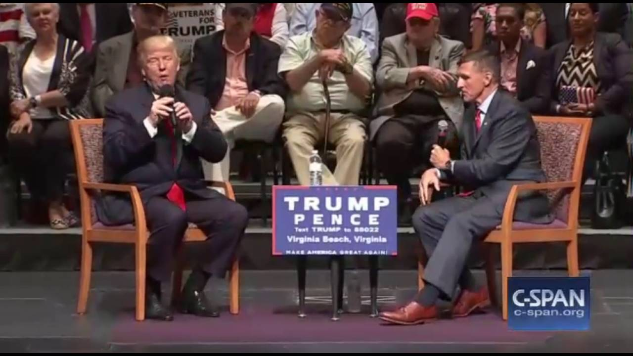Image result for PHOTO OF FLYNN AND TRUMP