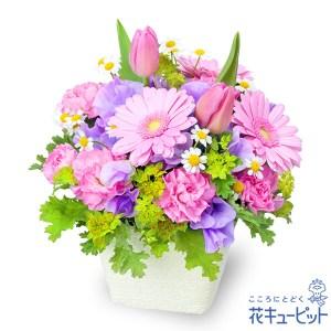 春のガーデンアレンジメント(ピンク)