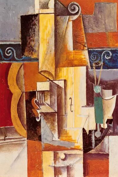 Violin And Guitar Canvas Print By Pablo Picasso ICanvas