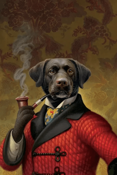 The Red Beret Dog Canvas Artwork By Dan Craig Icanvas
