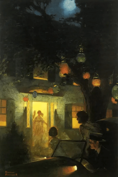 And The Symbol Of Welcome Is Light Canvas Print Norman Rockwell ICanvas