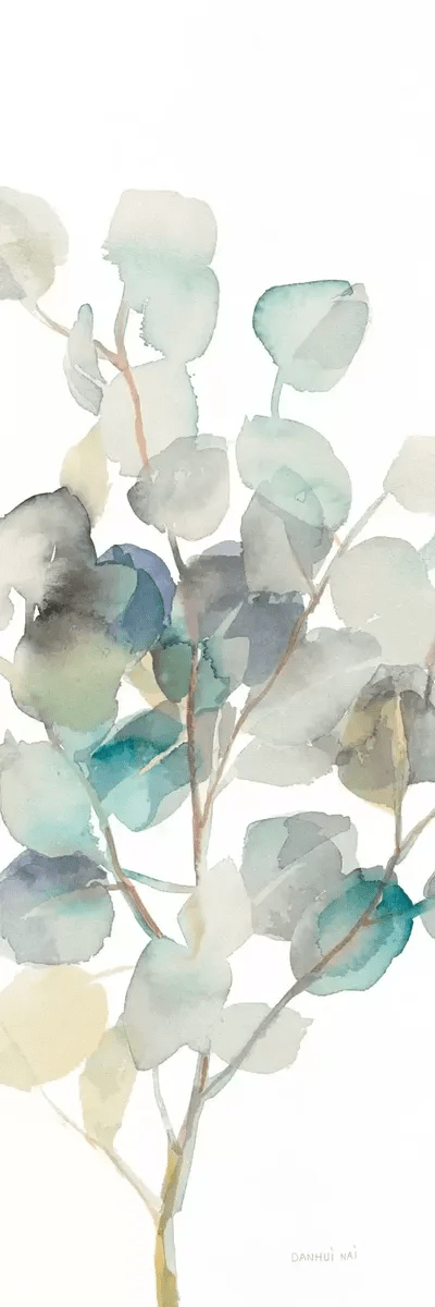 Eucalyptus On White III Canvas Wall Art By Danhui Nai ICanvas