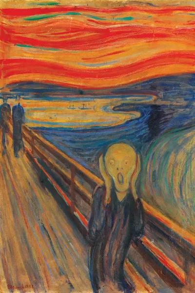 The Scream 1893 Oil Tempera Amp Pastel On Card