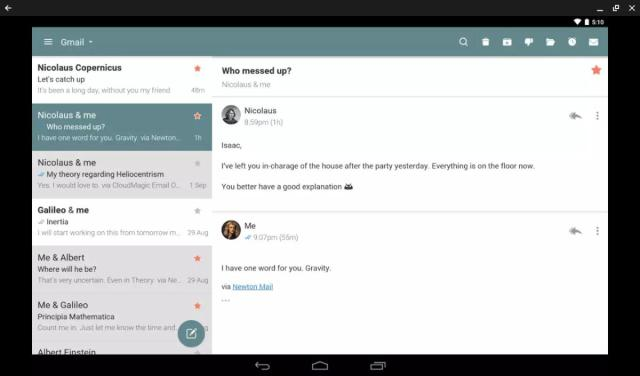 android apps chromebook newton mail