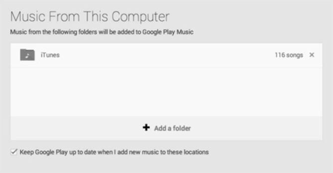 импортировать музыку google play large