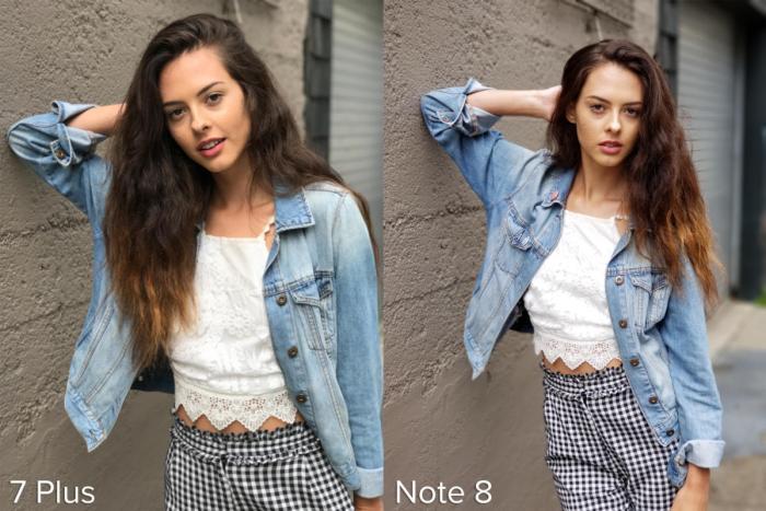 Apple iPhone 7 Plus Portrait Mode vs Samsung Galaxy Note 8 Live Focus example 2