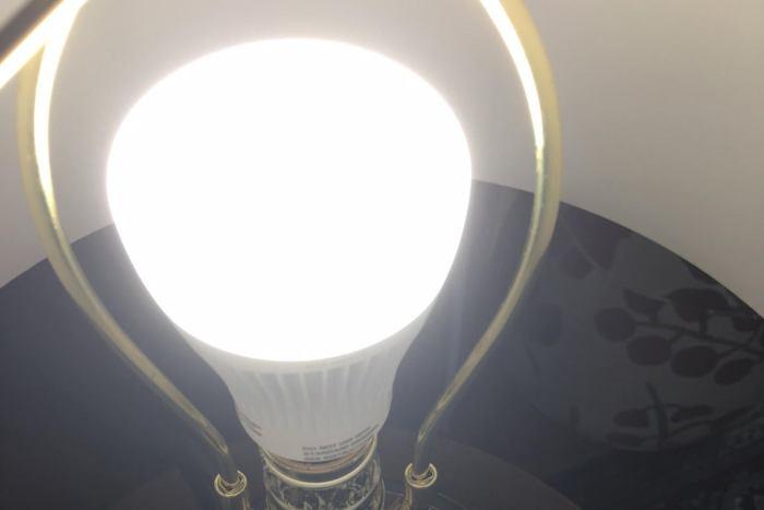 wiz bulb in lamp