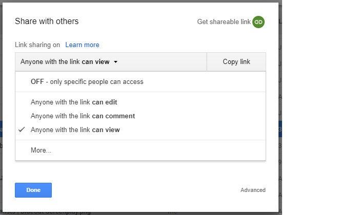 Google Drive collaboration public sharing permissions