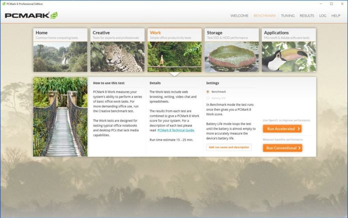 PCMark 8 Work Conventional Screenshot