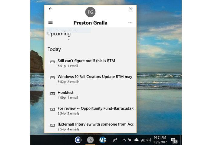 Windows 10 Fall Creators Update - My People