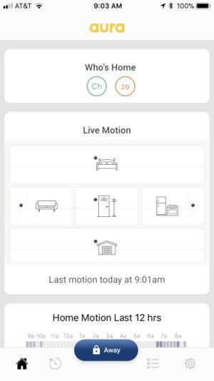 Aura home monitoring app